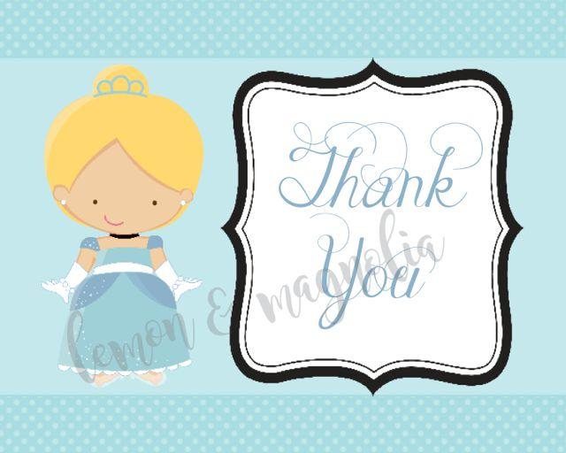 Cinderella Birthday Thank You Notecard