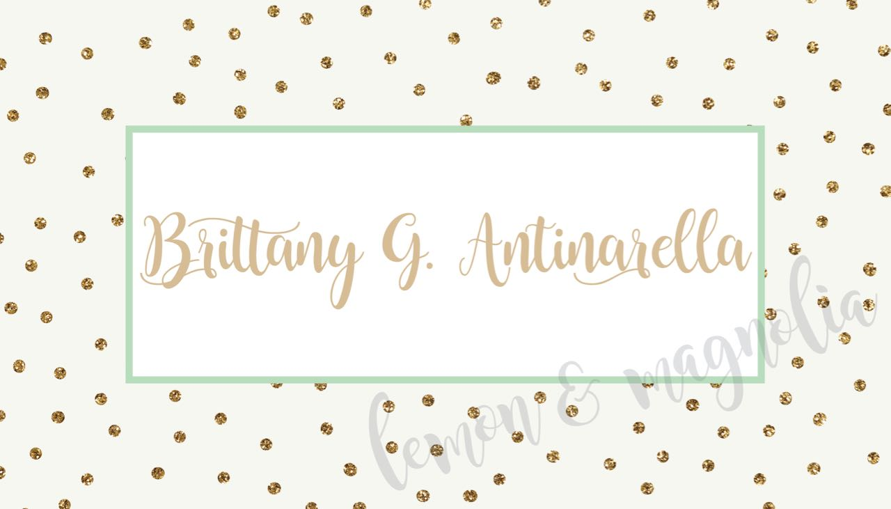 gold dot with mint personalized calling card - Personalized Calling Cards