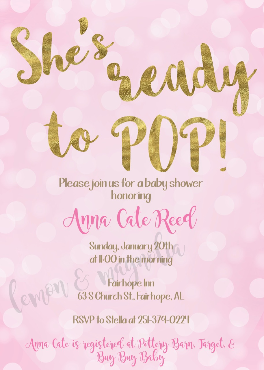 Pop Bokeh Baby Shower Invitation