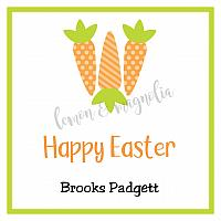 Three Carrot Easter Calling Card or Gift Tag