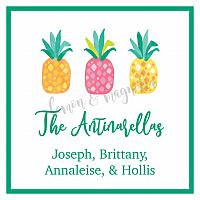 Pineapple Personalized Calling Card
