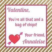 Gold Glitter Stripe Valentine's Tag