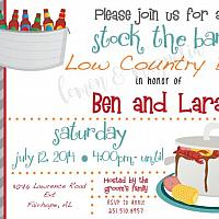Low Country Boil Stock the Bar Shower Invitation