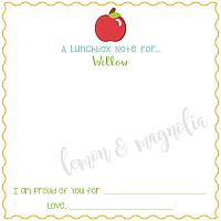 Apple Lunchbox Notes