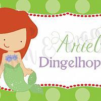 Princess Ariel Food Label/Tent