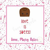 Arrows and Chocolate Valentine's Day Tag