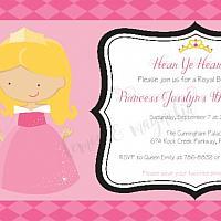 Aurora/Sleeping Beauty Invitation