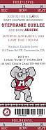 Alabama Football Baby Ticket Invitation