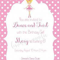 Ballerina Invitation