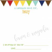 Banner Lunchbox Notes