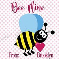 Bee Valentine Tag
