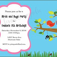 Birds and Bugs Birthday Party