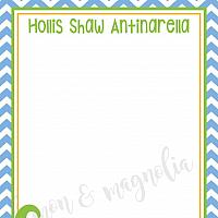 Boy Alligator Personalized Note cards