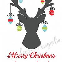 Christmas Deer with Ornaments Personalized Gift Tags