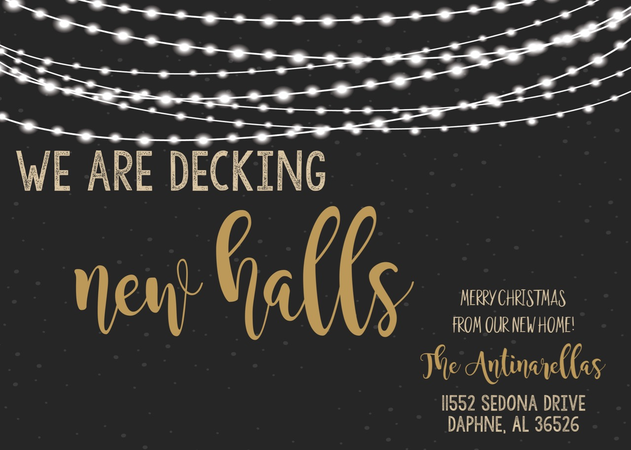 Deck New Halls Christmas Moving Announcements