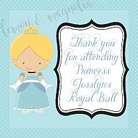 Cinderella Birthday Favor Tag