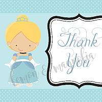 Cinderella Birthday Thank You Notecard