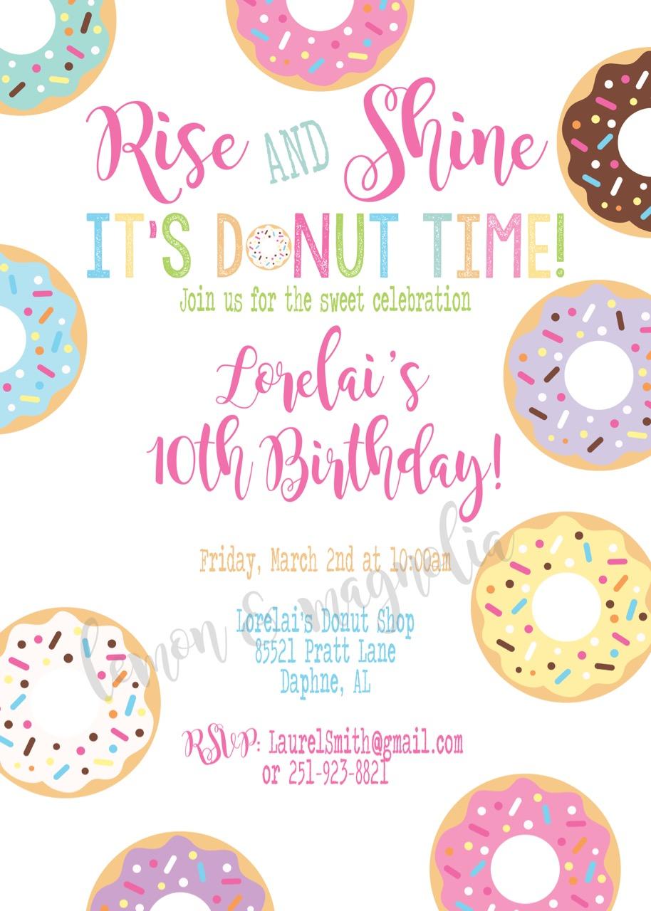 Donut Time Invitation