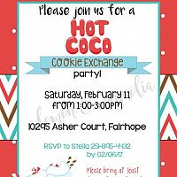 Hot Coco and Cookie Exchange Invitation