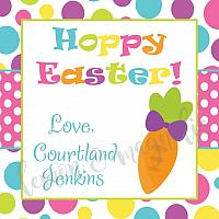 Easter Polka Dot with Carrot Personalized Calling Card