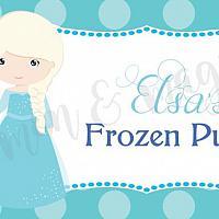 Princess Elsa Food Label/Tent