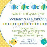 Boy Fishy Fishy Birthday Invitation