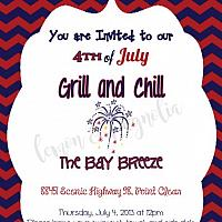 4th of July Grill and Chill Invitation