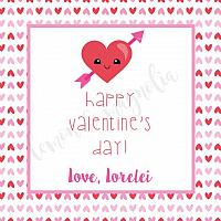 Hearts Valentine's Day Gift Tag