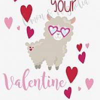 I llama be your Valentine Gift Tag
