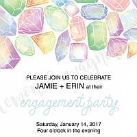 Jeweled Engagement Party Invitation