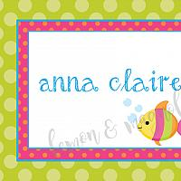 Bright Under the Sea with Fish Personalized Notecard