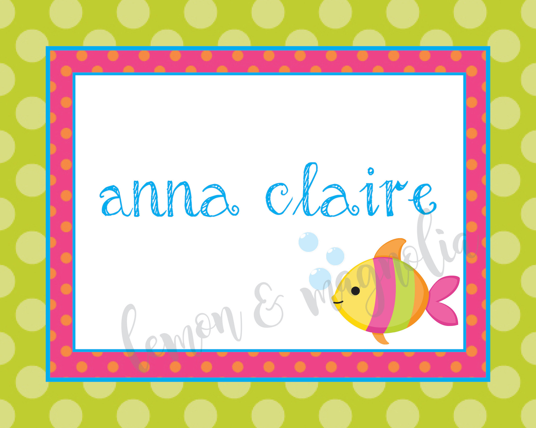 Bright Under the Sea Thank You Notecard