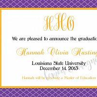 LSU Graduation Announcement