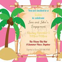 Luau Engagement Party Invitation