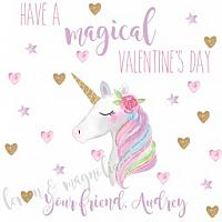Magical Unicorn Valentine's Day Gift Tag