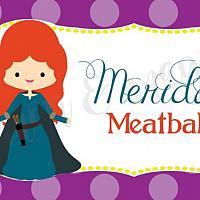 Princess Merida Food Label/Tent