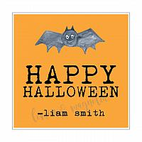Personalized Orange Halloween Gift Tag