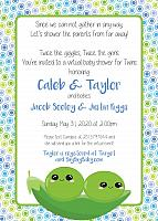 Peas in a Pod Polka Dot Baby Shower Invitation