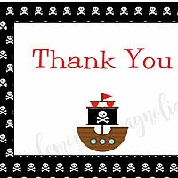 Pirate Birthday Thank You Notecard
