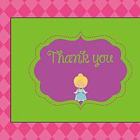 Pink Princess Thank You Notecard