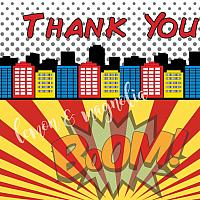 Superhero Thank You Notecards