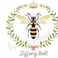 Queen Bee Personalized Notecards