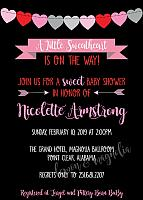 Valentine's Baby Shower Invitation