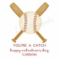 Watercolor Baseball Personalized Calling Cards or Gift Tags