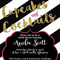 Cupcakes and Cocktails Bridal Invitation