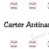 Baseball Personalized Calling Card