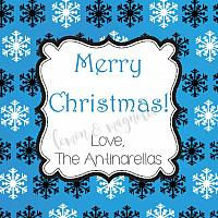 Blue Snowflake Personalized Christmas Gift Tag