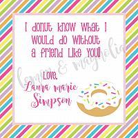 Donut Stripe Valentine Tag
