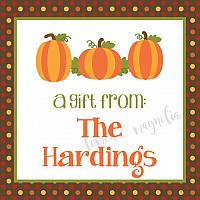Fall Dot Pumpkin Personalized Calling Card