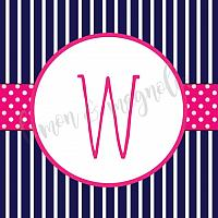 Girl Navy, Pink, & Green Anchor Baby Shower Banner